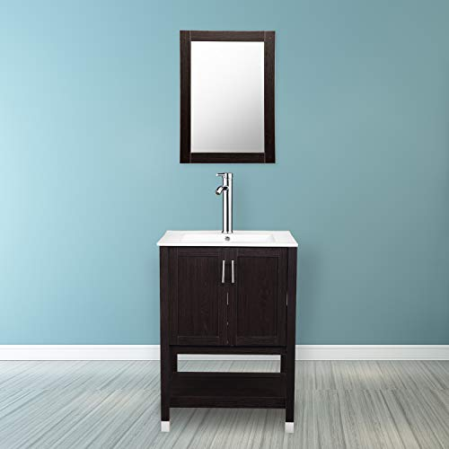 DOIT 24 inch Modern Bathroom Vanity and Sink Combo Stand Cabinet,Wood Bathroom -