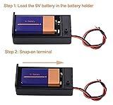 LAMPVPATH (Pack of 2) 9v Battery Holder, 9 Volt