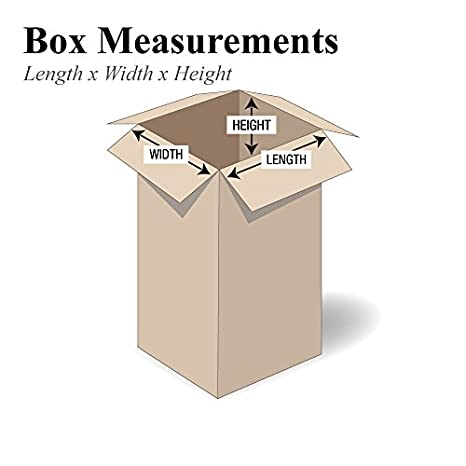 4 Width 48 Length Pack of 25 48 L x 4 W x 4 H 4 Height BOX USA B4844MS Long Moving Boxes Kraft