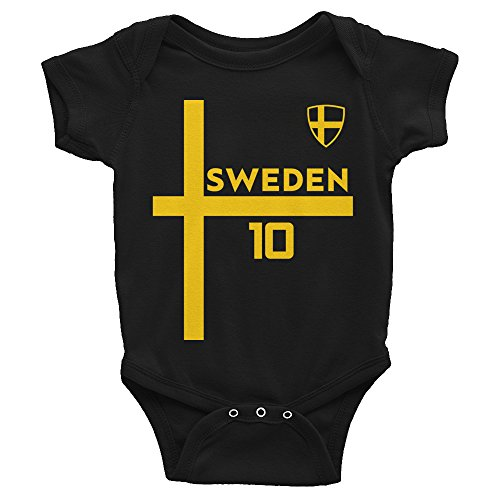 a333c4c6c UNI7ED Sweden Jersey World Cup Soccer Onesie Onesies Infant Bodysuit
