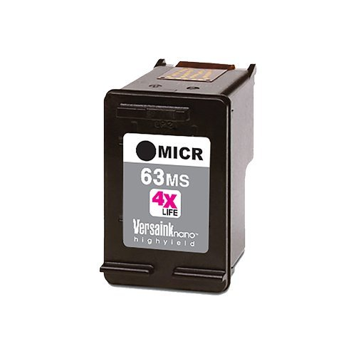 VersaInk-Nano HP 63 MS Black MICR Ink Cartridge for Check Printing