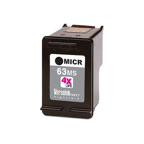 VersaInk-nano HP 63 MS Black MICR Ink Cartridge for Check Printing