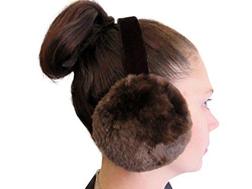 (Beige Sheared Beaver Ear Muffs)