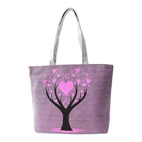 del Hrph bolsos bolsos Morado buen bolso amor muy Árbol gusto de muchachas lona de de bolso de de de del de lindas las la escuela la los Mujer YqYnUrH