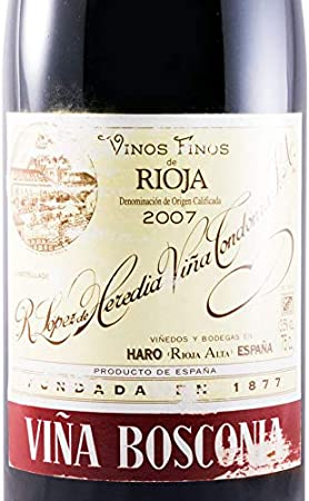 2007 López de Heredia Viña Bosconia Reserva red
