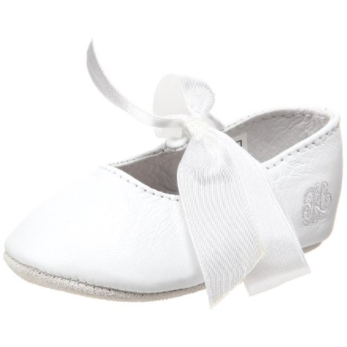(Ralph Lauren Layette Briley Ballet Crib Shoe (Infant/Toddler),White Lambskin,2 M US Infant)