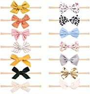 KECUCO Baby Girl Headbands and Bows, Newborn Infant Toddler Hair Accessories