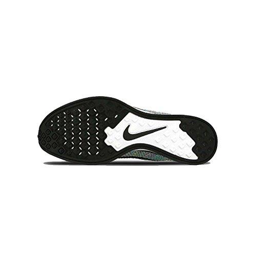 Nike Womens Flyknit Racer Hvit / Kul Grå / Grønn 526628-103