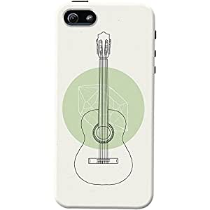 DailyObjects White Guitar Case For iPhone SE