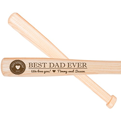 LifeSong Milestones Personalized Gift for dad Ideas for Best Dad Ever Baseball bat 18