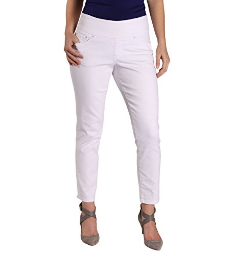 Jag Jeans Women's Amelia Slim Ankle Pull On Jean, White Denim, - Women Hottest White