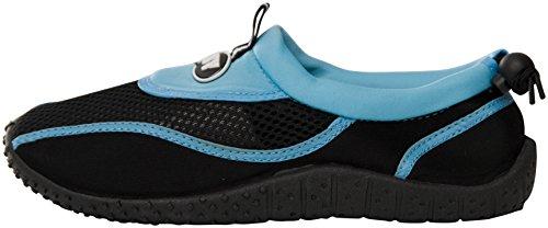Starbay Der Bucht-Frauen-Beleg auf athletischen Aqua-Socken-Wasser-Schuhen 2907-1 Blau