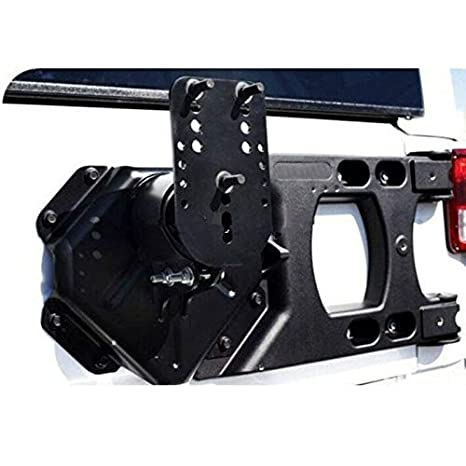 GOWE negro rueda de repuesto rueda soporte trasero para Jeep Wrangler JK 2007 2008 2009 2010 2011 2012 2013 2014 2015 [qpa227]: Amazon.es: Coche y moto