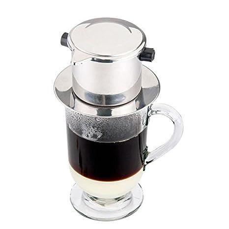 Amazoncom Single Serving Stainless Steel Vietnamese Coffee Press