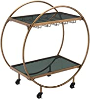 Arc Bar Cart Gold & B