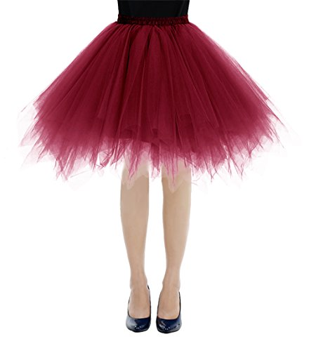 Mini 1950s Sottogonne Burgundy Retro Donna Sottovesti Vintage E Bbonlinedress Rockabilly Gonne 8qSOFwxF