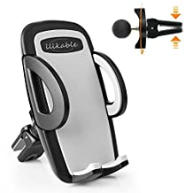 Car Mount for Smartphones, ilikable Air Vent Car Cell Phone Holder with Twist Lock Design and 360 Degree Rotation for iPhone Android Cellphone GPS Devices, Black