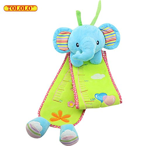 Price comparison product image TOLOLO Cartoon Plush Height Measurement Ruler for Baby Kids Early Educational Toy (Elephant)