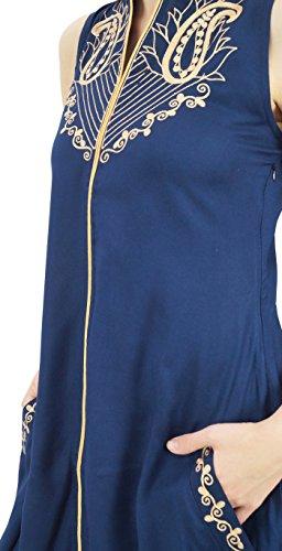 Anzug Atasi bestickt Ethnic Marineblau Beige Rayon Indian und Frauen mit Dupatta Set HwXgwRq6x