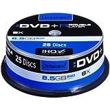 Intenso DVD+R 8.5GB 8x Double Layer 25er Cakebox - DVD+RW vírgenes (8,5 GB, DVD+R, 240 min, Caja para pastel, 8x)