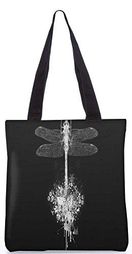 """Snoogg Libelle Tragetasche 13,5 X 15 In """"Einkaufstasche Dienstprogramm Trage Von Polyester Canvas"""