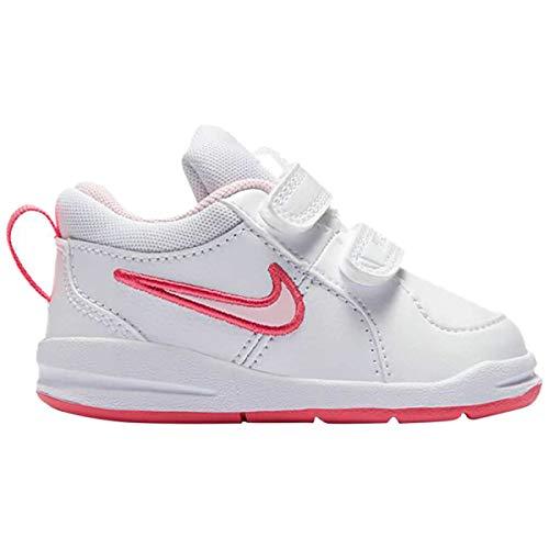 Nike Pico 4 (TDV) Toddler Girls Sneakers Shoes (9, White/Spark/Prism Pink)