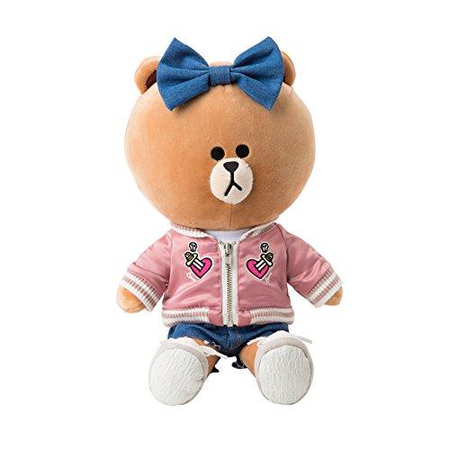 LINE FRIENDS Pink Jumper Choco - Costume Plush Doll Season 1 One Size Light Brown_Pink