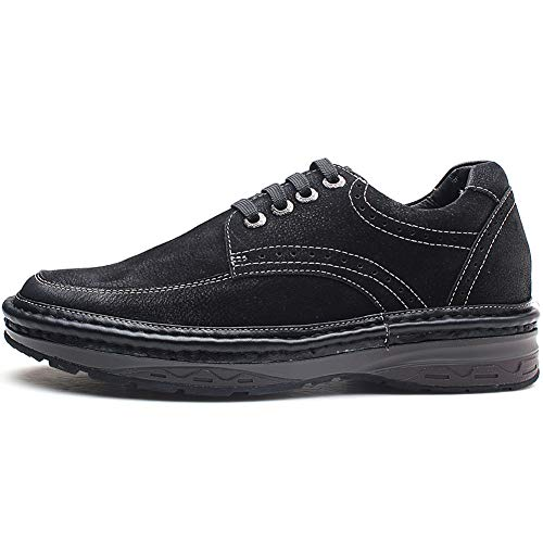 info for ccc7c 9d8e7 GOLDMoral Elevator Shoes, Height Increasing Men s Suede Suede Suede Leather  Black Casual Business Work Invisible Heel 7CM B01D4PU7XM Shoes e797be