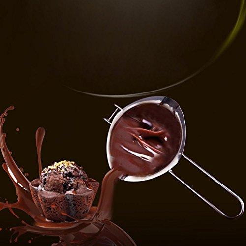 Cacerola de crisol de mantequilla de chocolate inoxidable Cocina casera Caldera doble Milk Bowl ❤️Xinantime (❤️Plateado): Amazon.es: Hogar
