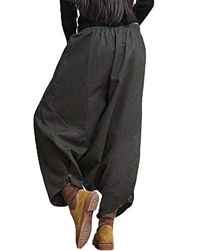 Pluderhose Elegantes Elastisch Mujer Aladdin Primavera Otoño Casuales Color Mujeres Cómodo Bund Pantalones Battercake Grau Harem Globo Anchos Sólido F5nEgqxAq