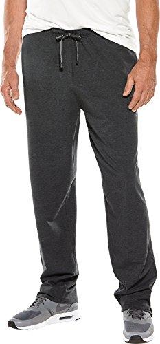 Coolibar UPF 50+ Men's Saturday Lounge Pants - Sun Protective (XX-Large- Charcoal Heather)