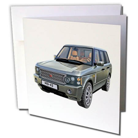 s Car - A Green European Ranger Car - 6 Greeting Cards with Envelopes (gc_282283_1) ()