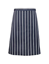 Premier Classic Stripe Chefwear Half Apron/Corporate & Hospitality (One Size) (Navy/White Stripe)
