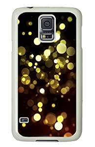 Abstract Golden Bokeh Polycarbonate Hard Case Cover for Samsung S5/Samsung Galaxy S5 White