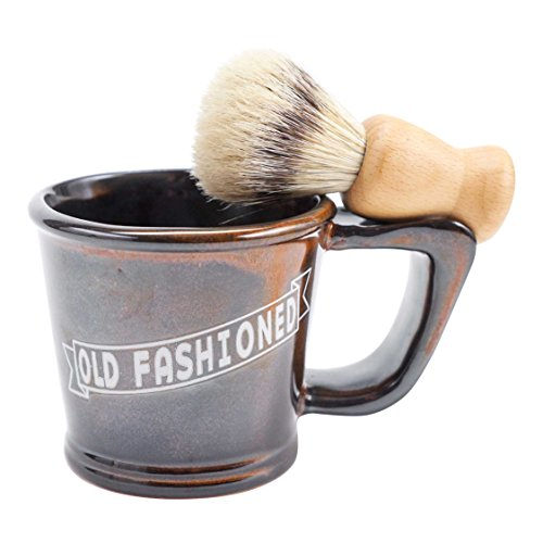 Shopper Thoughtful (FLOOR | 9 Men's Old Fashioned Shave Mug with Boar Hair Shave Brush)