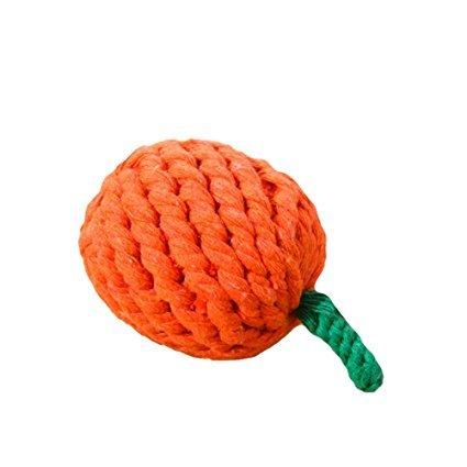 Hii-Yo Pet Chew Cotton Woven Rope Dental Teaser Teeth Cleaning Cute Fruit Shaped
