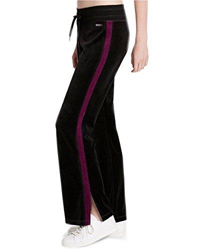 Calvin Klein Performance Women's Velour Track Pants (Black/Merlot, Medium)