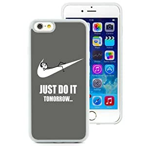 NEW Custom Designed For Iphone 4/4S Case Cover Hard shell Phone Case With Just Do It Tomorrow Nike_White Phone Case