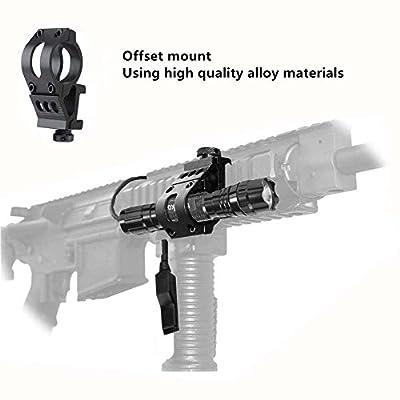 Ulako Offset L2 LED 1000LM Single 1 Mode Coyote Hog Pig Varmint Predator Hunting Flashlight Torch for AR15 Rifle Shotgun