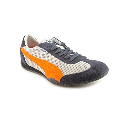 PUMA 76 Runner Mesh Fashion Sneaker,Gray/Navy/Poppy,14 US/15.5 D US (Mens Puma 76 Runner)