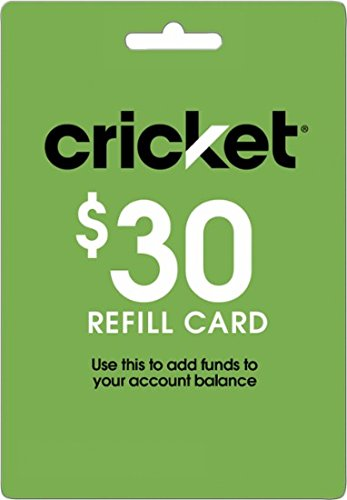 Cricket Refill Card $30 Cricket Wireless Refill Card $30 by Cricket