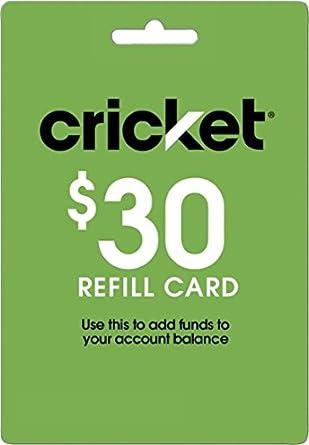 Cricket Refill Card 30 Cricket Wireless Refill Card 30