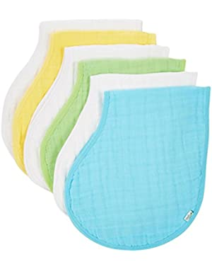 green sprouts by i play. Muslin Burp Cloths Made From Organic Cotton, White/Aqua, One Size, 2 Pack