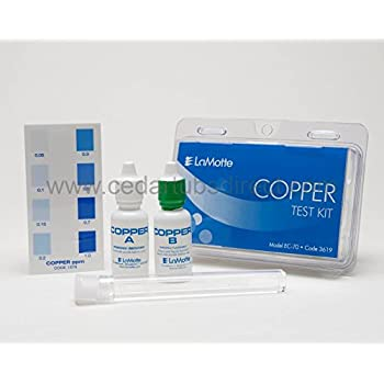 Copper test kit for silver mineral ionizer system swimming pool liquid test kits for Swimming pool test kits amazon