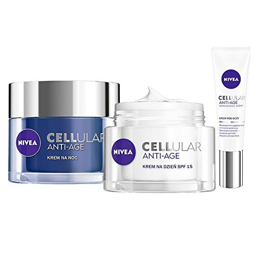 Energy Renewal Eye Cream - Nivea Cellular Anti-age Night Cream 50ml + Day Cream 50ml + Eye Cream 15ml Set