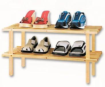 Estantería para Zapatos con 2 estantes, de Madera de Abeto ...