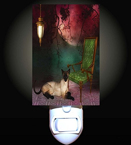 Siamese Garden Cat Decorative Night Light (Siamese Cat Lamp)