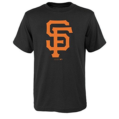 MLB San Francisco Giants Boys Primary Logo Short Sleeve Tee, Black, Size 14/16