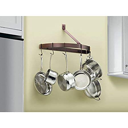 Brushed Stainless Cuisinart CRHC-22B Chefs Classic Half-Circle Wall-Mount Pot Rack