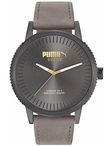 Puma Suede Men Grey Leather watch-PU104101008